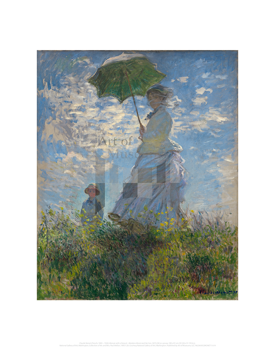 Woman with a Parasol – Madame Monet and Her Son, Claude Monet