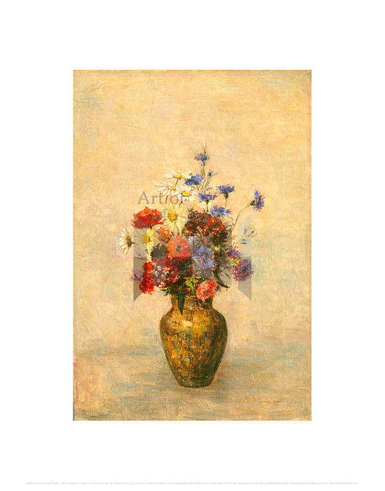 Flowers in a Vase, Odilon Redon