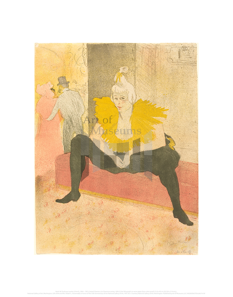 Seated Clowness (La Clownesse assise), Henri de Toulouse-Lautrec
