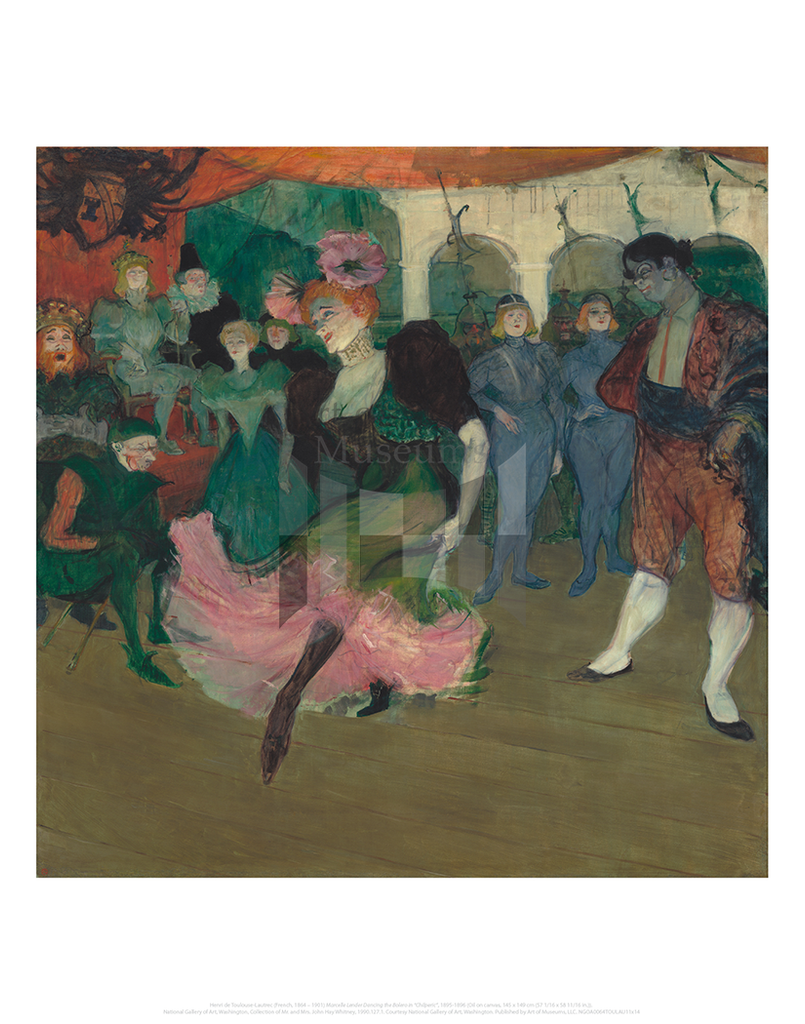 "Marcelle Lender Dancing the Bolero in ""Chilperic"", Henri de Toulouse-Lautrec"