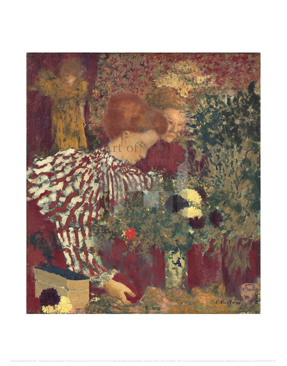 Woman in a Striped Dress, Edouard Vuillard