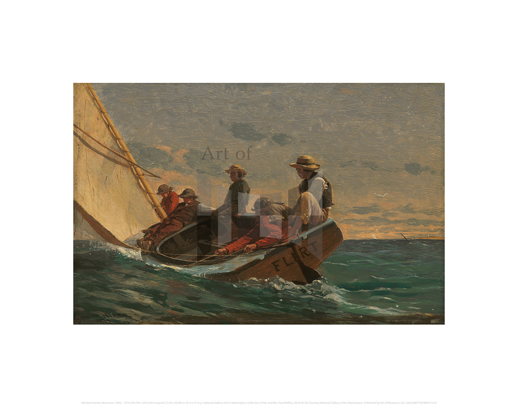 The Flirt, Winslow Homer