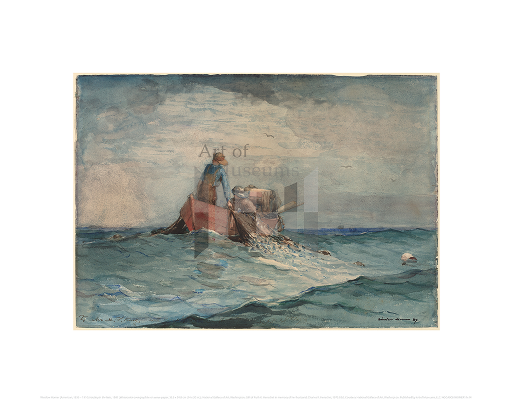 Hauling in the Nets, Winslow Homer