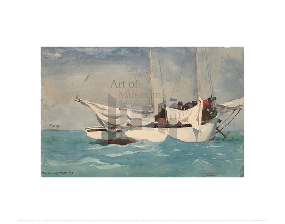 Key West, Hauling Anchor, Winslow Homer