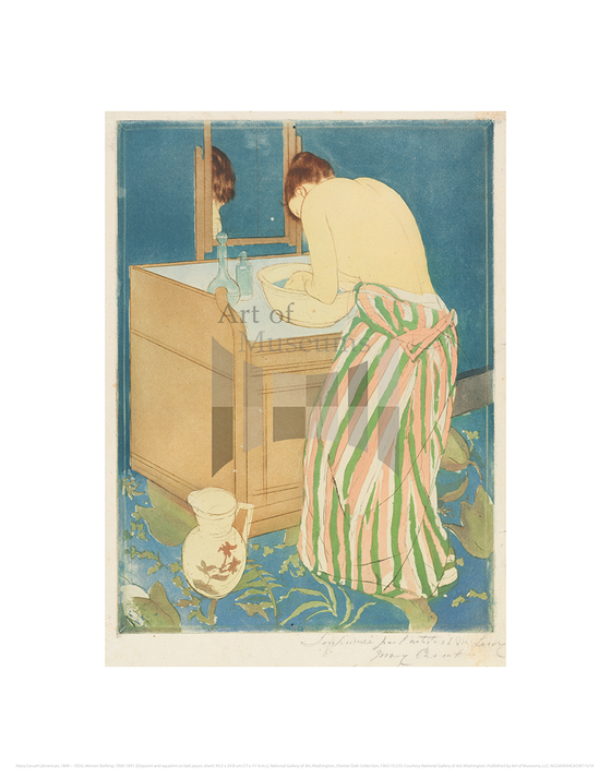 Woman Bathing, Mary Cassatt
