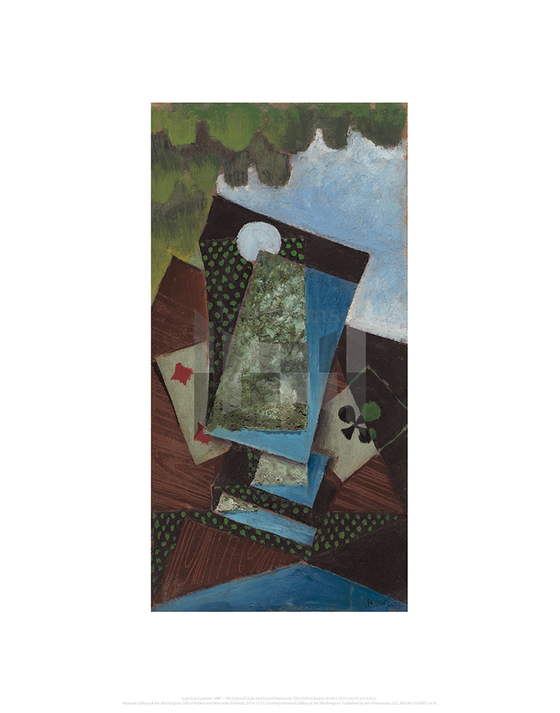 Ace of Clubs and Four of Diamonds, Juan Gris