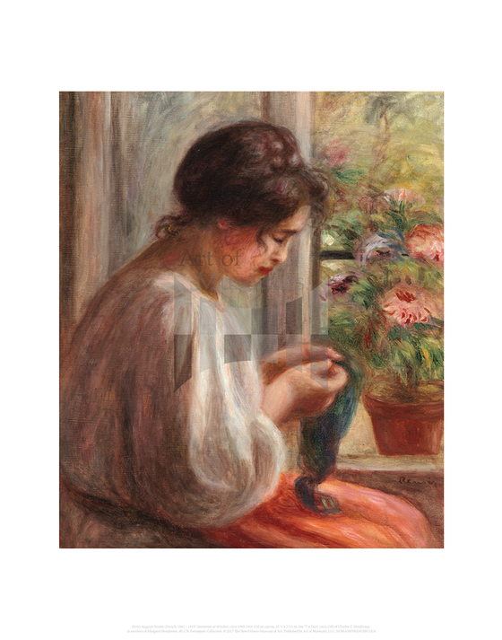 Seamstress at Window, Auguste Renoir