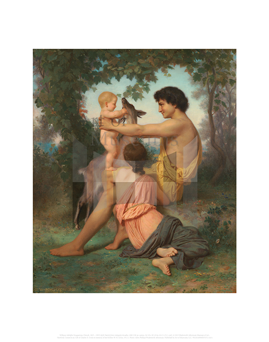 Idyll: Family from Antiquity / Arcadia, William Adolphe Bouguereau