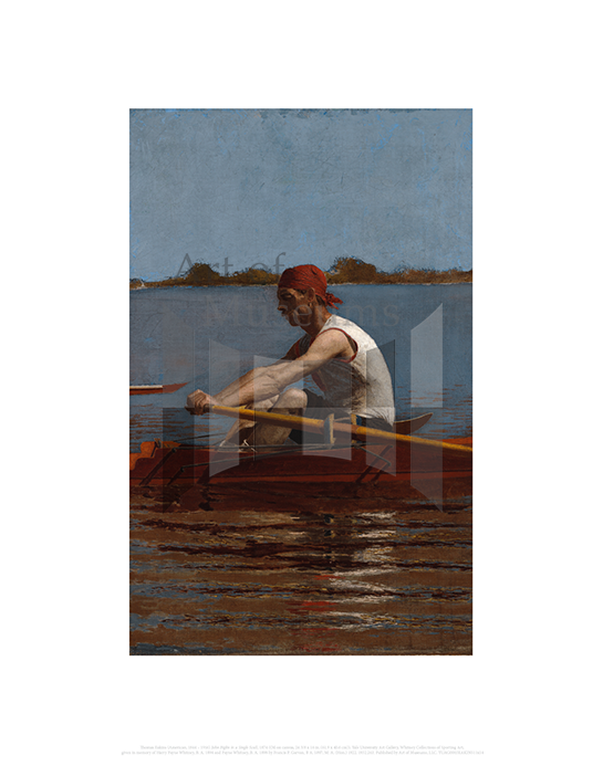 John Biglin in a Single Scull, Thomas Eakins