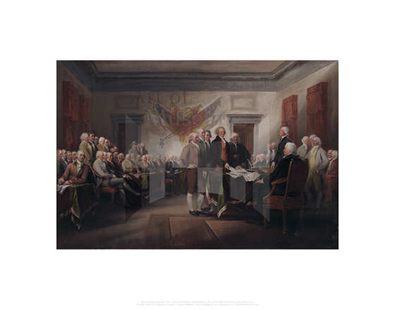 The Declaration of Independence, July 4, 1776, John Trumbull
