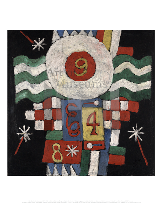 Collection of Numbers, Designs and Letters Seen by Me at the Beginning of the War in Berlin-Military in Nature, Marsden Hartley