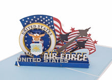 Load image into Gallery viewer, AITPOP US AIR FORCE pop up card - AitPop