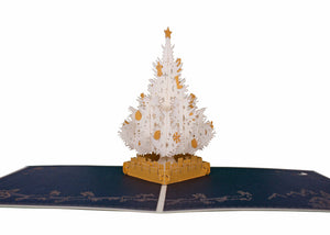 AITpop Christmas tree (White) pop up card - AitPop