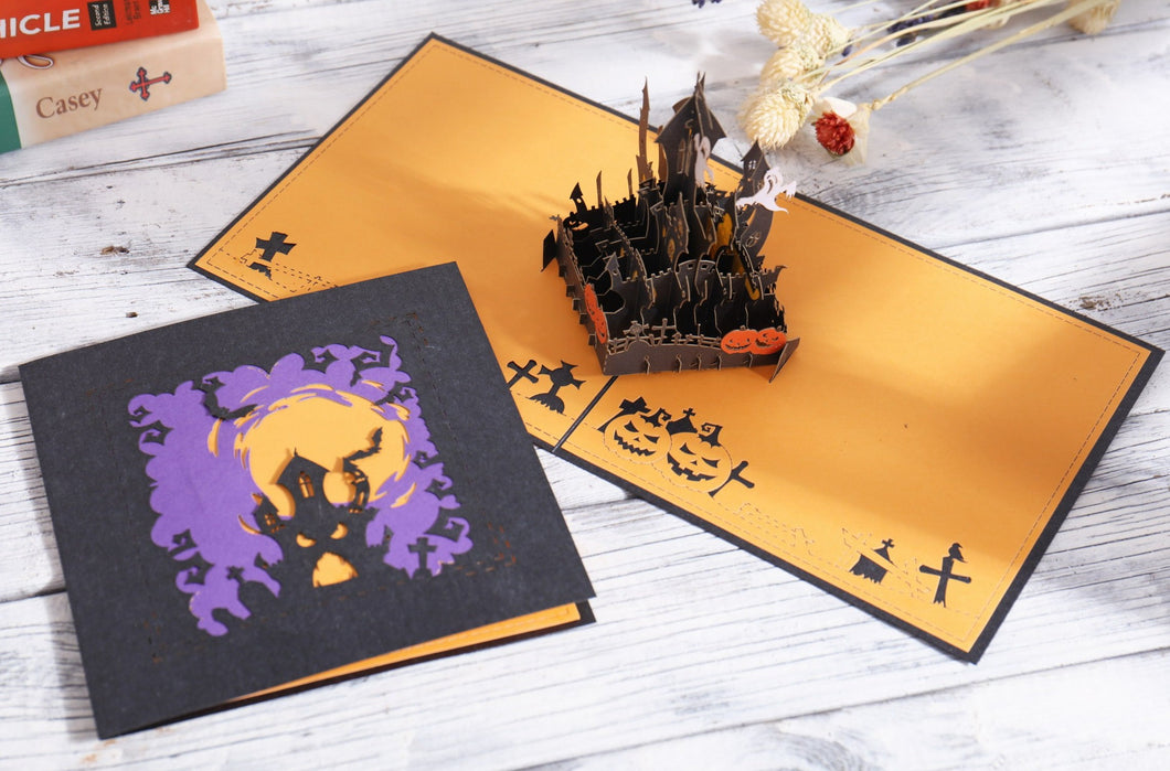 AITpop Halloween castle pop up card - AitPop