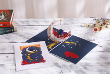 Load image into Gallery viewer, AITpop Moon boat (White) pop up card - AitPop