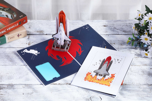 AITpop  spaceshuttle (white cover) pop up card - AitPop
