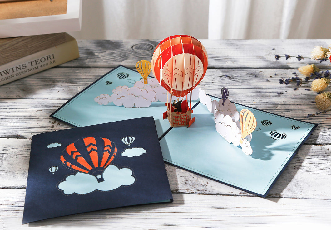 AITpop Fire Balloon pop up card - AitPop