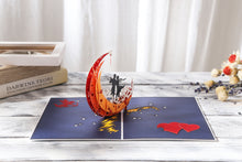 Load image into Gallery viewer, AITpop Moon boat (Red) pop up card - AitPop