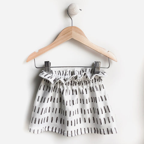 ORGANIC Penelope Skirt | lines charcoal