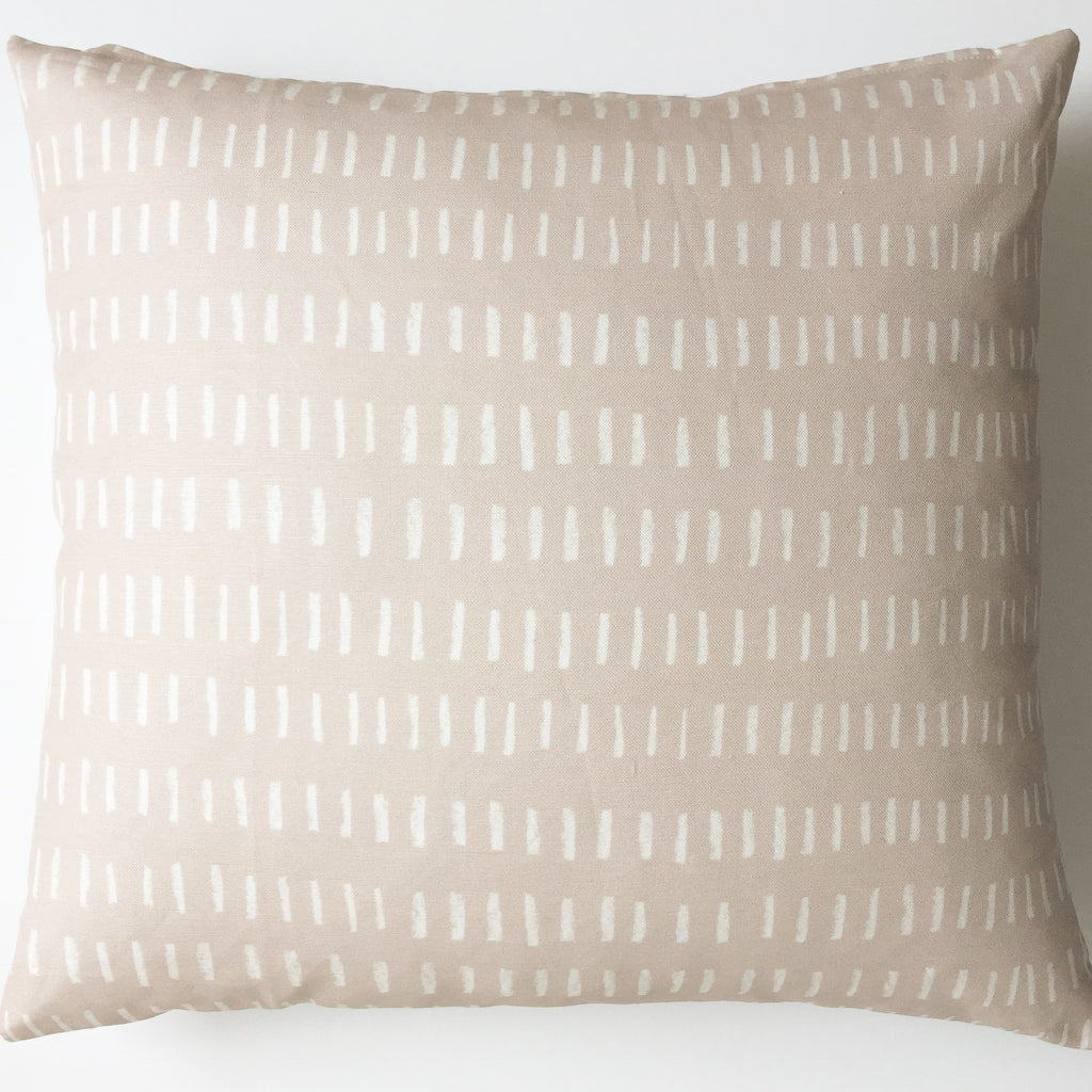 Throw Pillow Cover / L I N E S Mauve