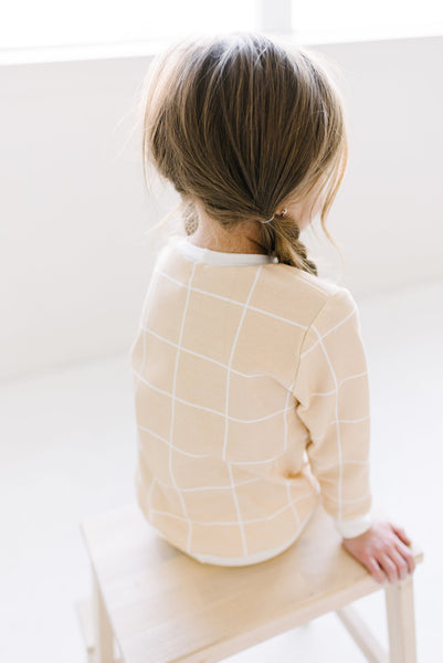 ORGANIC Grid Sweatshirt | peach