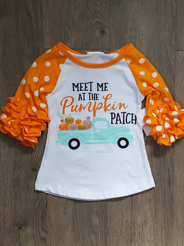 Girls Pumpkin Patch Top - Paige & Reece