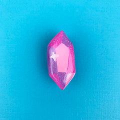 CRYSTAL // CLAY PIN (PINK)