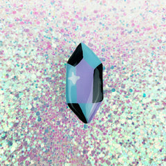 CRYSTAL // CLAY PIN (AQUA)