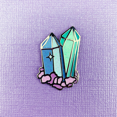 CELESTITE CRYSTAL // ENAMEL PIN