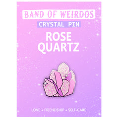 ROSE QUARTZ CRYSTAL // ENAMEL PIN