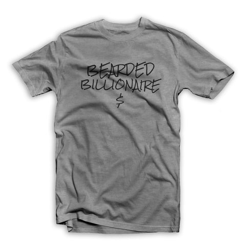 Bearded Billionaire Heather Grey T-Shirt
