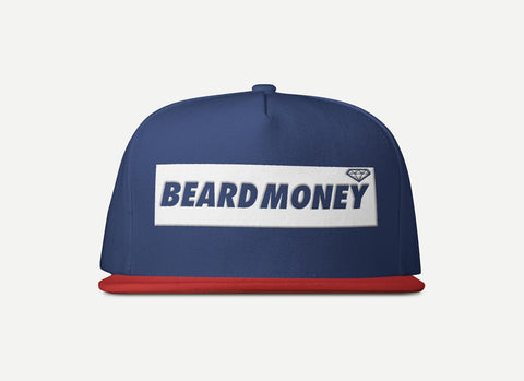 Beard Money Navy Red Snapback