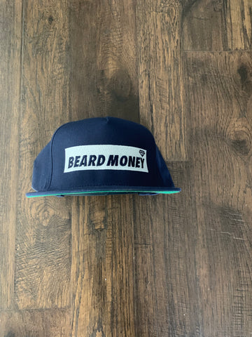 Beard Money Navy Blue Snapback
