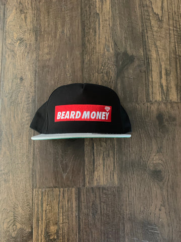 Beard Money Black Grey Red Snapback