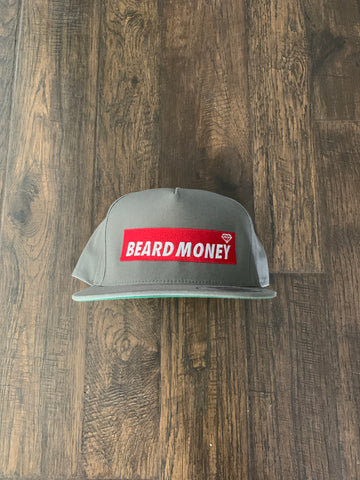 Beard Money Grey Red Snapback