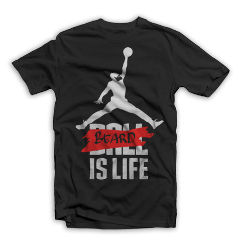 Beard is Life T-Shirt Black