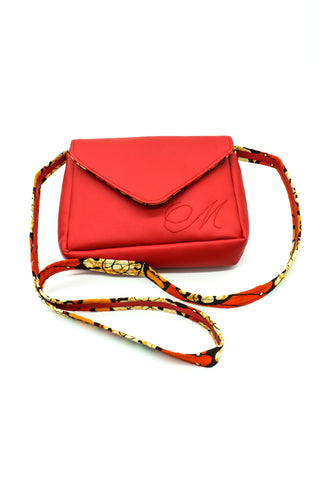 Red Pleather shoulder bag