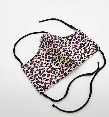 Plum Leopard - Fabric Face Masks