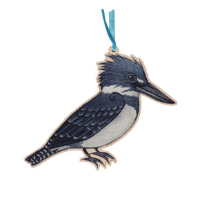 Belted Kingfisher Ornament
