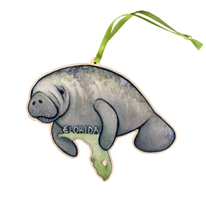 Florida Manatee Ornament