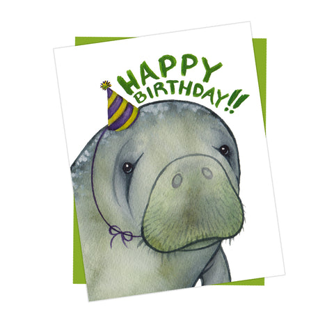 Happy Birthday Manatee Card