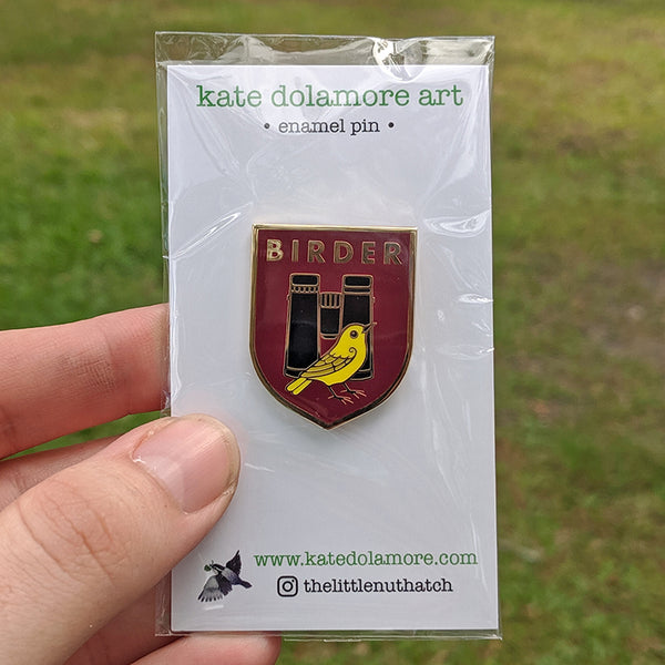 Wholesale Enamel Pin: Birder Badge