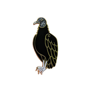 SECONDS Black Vulture Enamel Pin