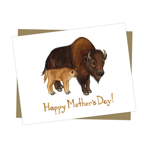 Buffalo Bison Mother's Day Card