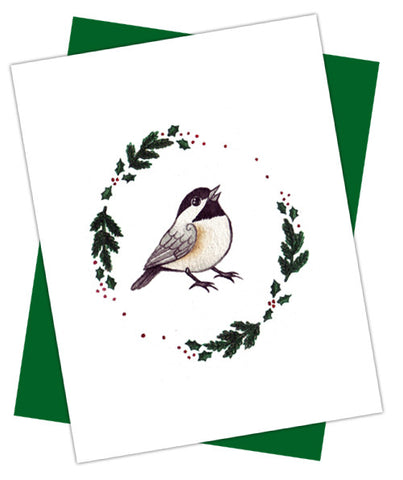 Chickadee Holiday Card