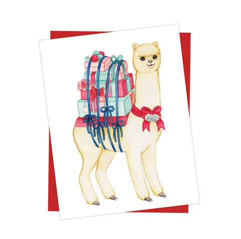 Alpaca Holiday Card