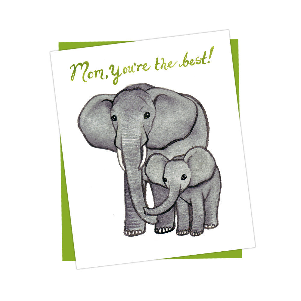 Elephant and Baby Mother's Day Card