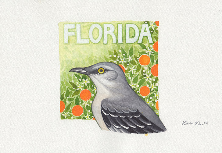 Florida Mockingbird Painting