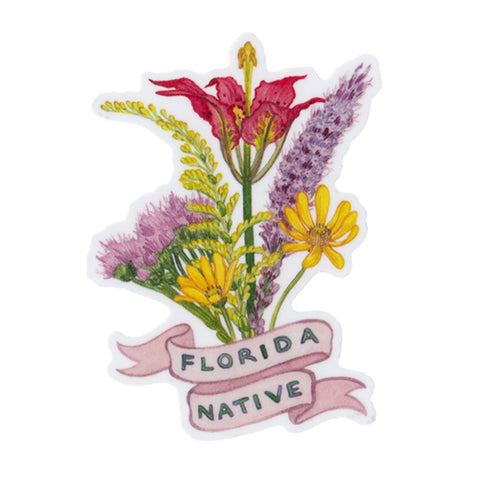 Florida Native Vinyl Sticker