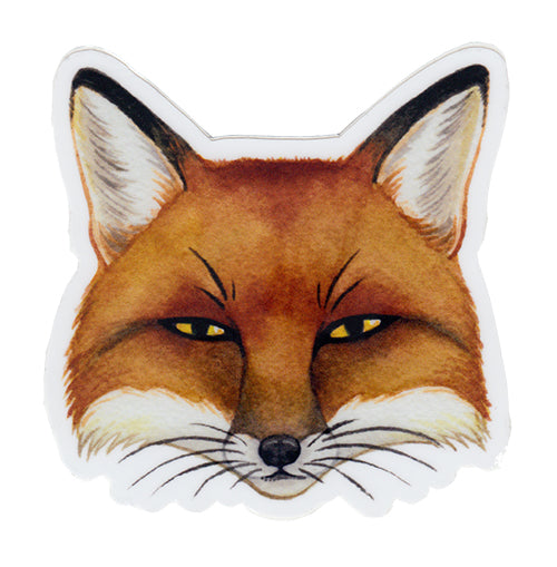 Red Fox Vinyl Sticker